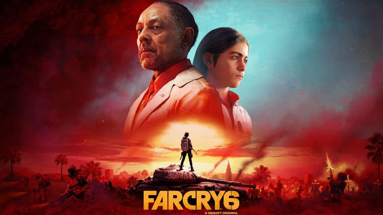 Imagem de capa do artigo com Gameplay de Far Cry 6 com o ditador Antón Castillo e seu filho Diego em destaque