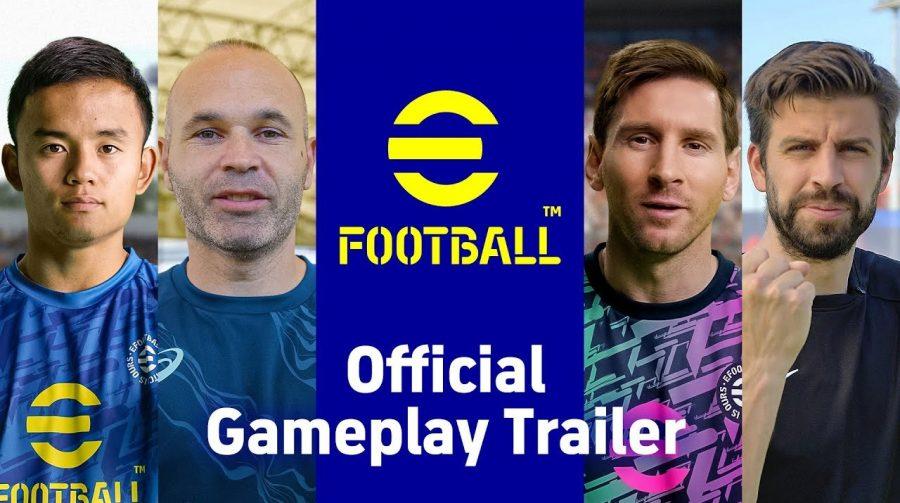 Trailer de gameplay de eFootball mostra dribles e controle de bola