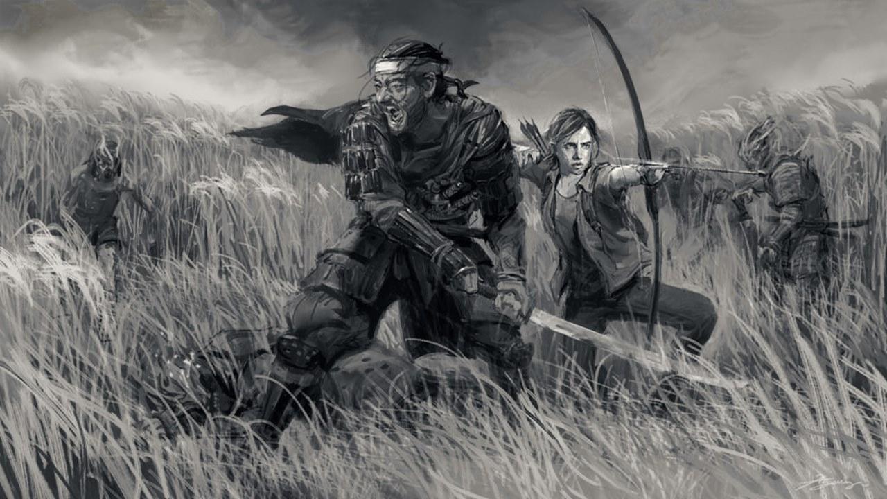 Arte de Ghost of Tsushima e The Last of Us 2.