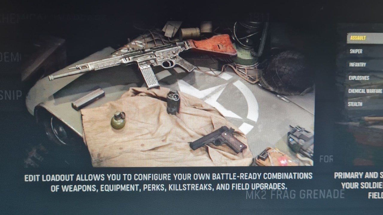 Informações sobre loadouts de Call of Duty: Vanguard