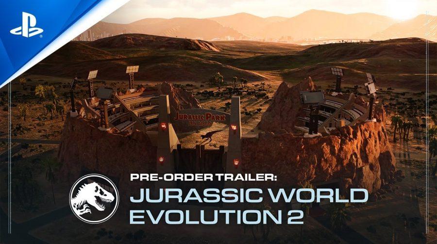 Jurassic World Evolution 2 chega em novembro; pré-venda aberta no PS4 e no PS5
