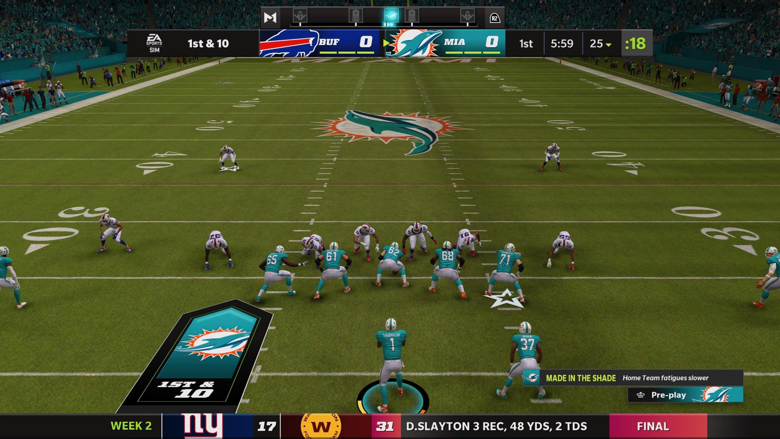 Jogabilidade é a mesma de sempre em Madden NFL 22