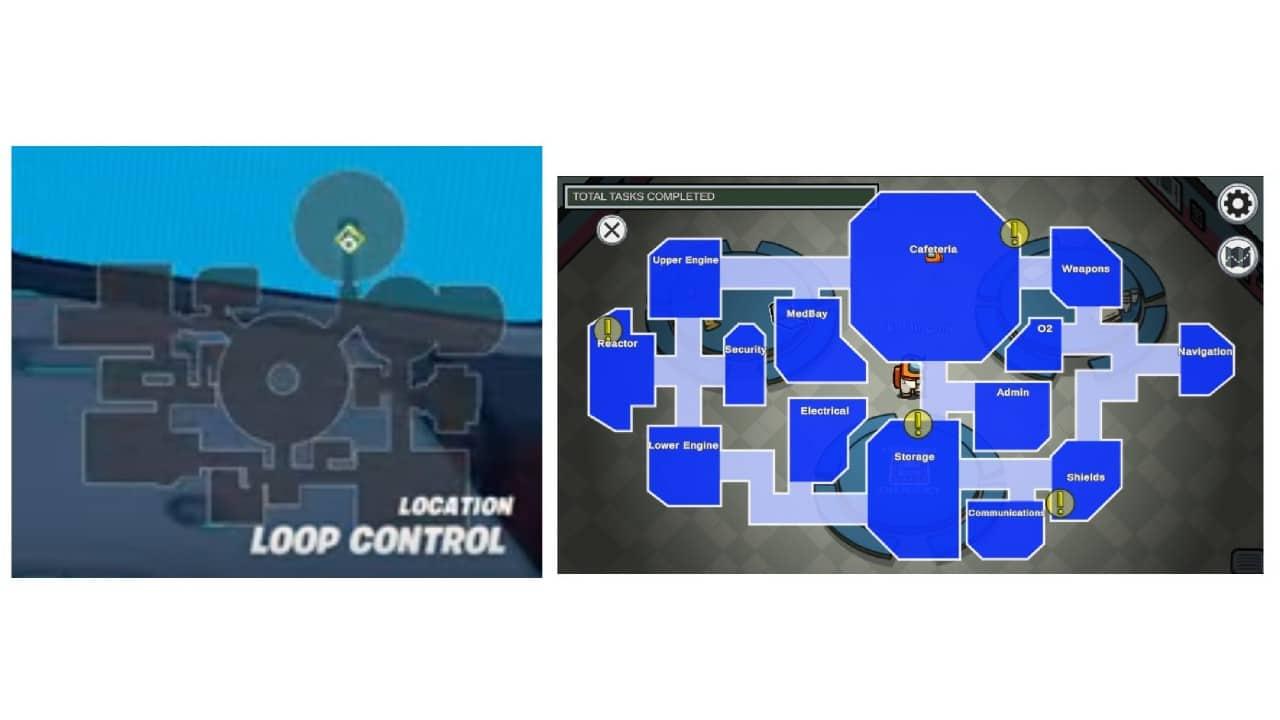 Mapas de Among Us e Fortnite