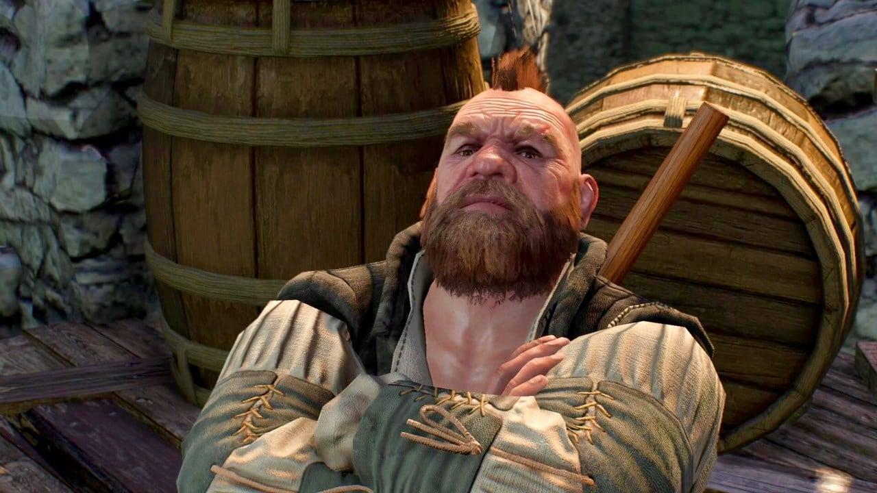 Personagem de The Witcher 3.