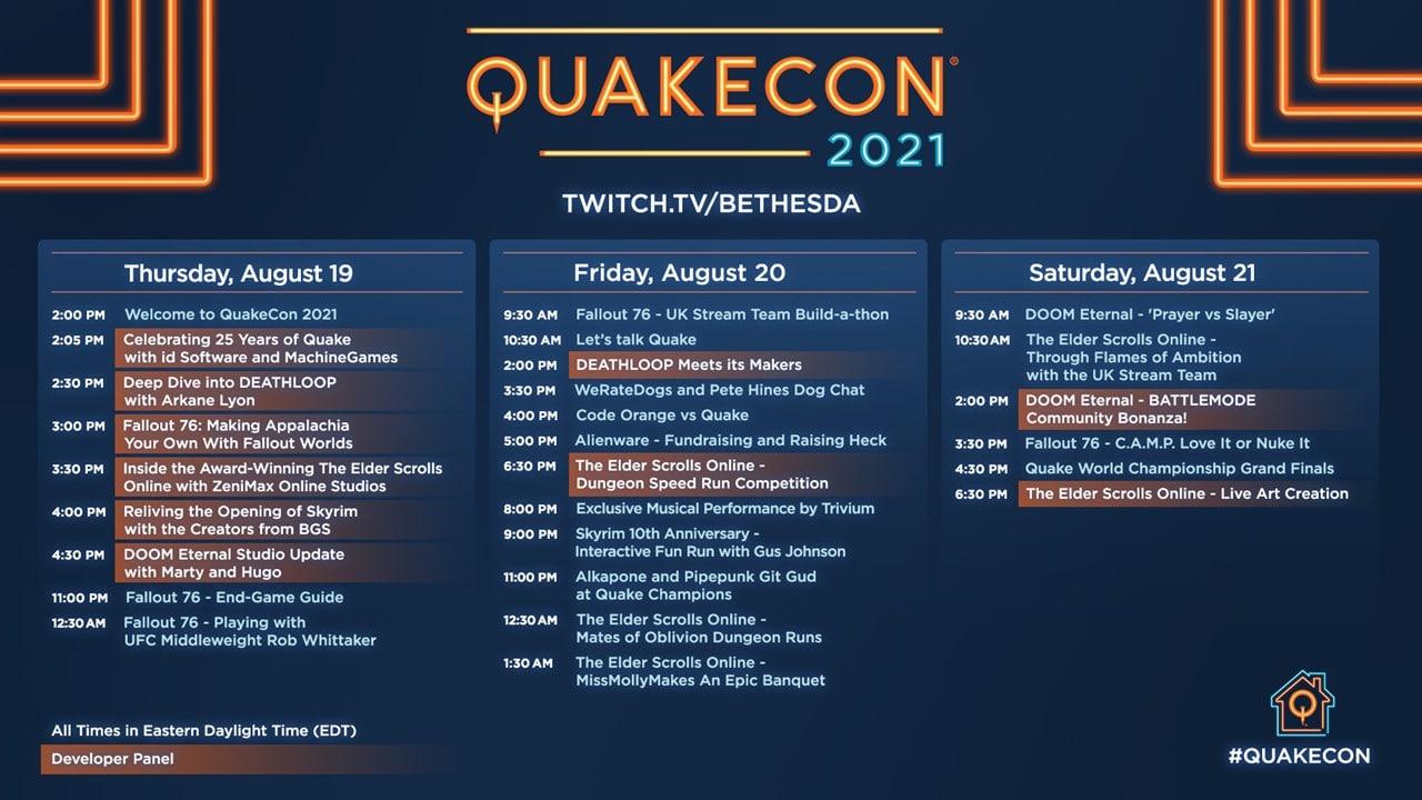 Programação da QuakeCon 2021