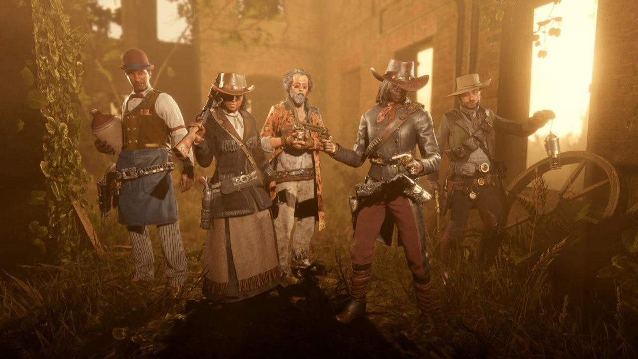 Personagens em Red Dead Online.