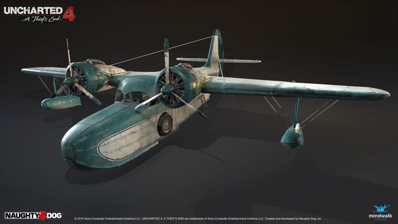 Imagem da matéria de Segredos de The Last of Us 2 com o avião de Sully de Uncharted 4