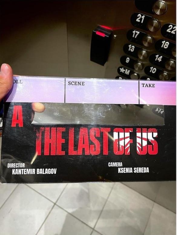 Claquete da série de The Last of Us.