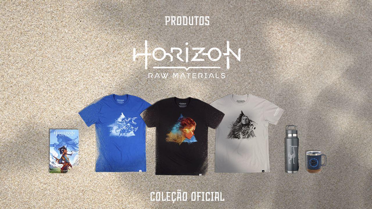 Imagem com produtos licenciados no site oficial de Horizon.