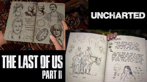 Veja as diferenças entre os diários de Ellie e Nathan Drake, protagonistas de TLoU 2 e Uncharted 4