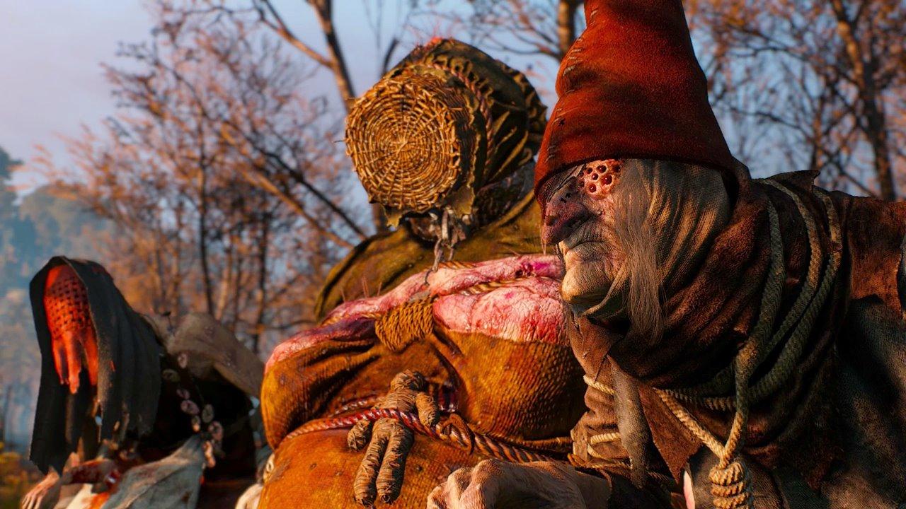 Moiras da floresta de The Witcher 3.