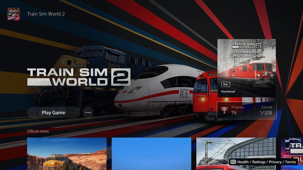 Train Sim World 2 é lançado no PlayStation 5 com 328 troféus