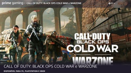 Membros Amazon Prime agora têm loots de Warzone e Cold War gratuitos