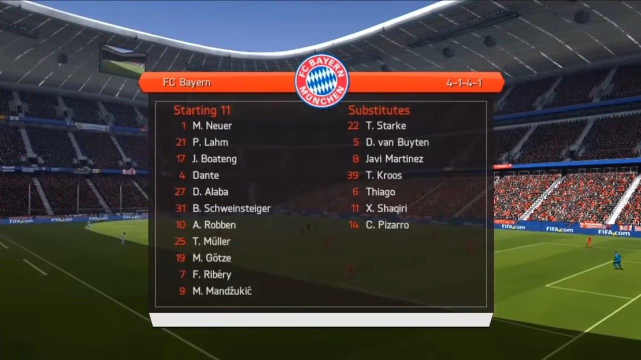 Bayern de Munique FIFA 14 - melhores times do FIFA