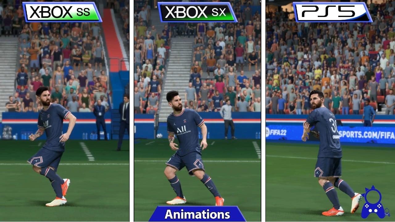 FIFA 22 PS5 vs Xbox Series