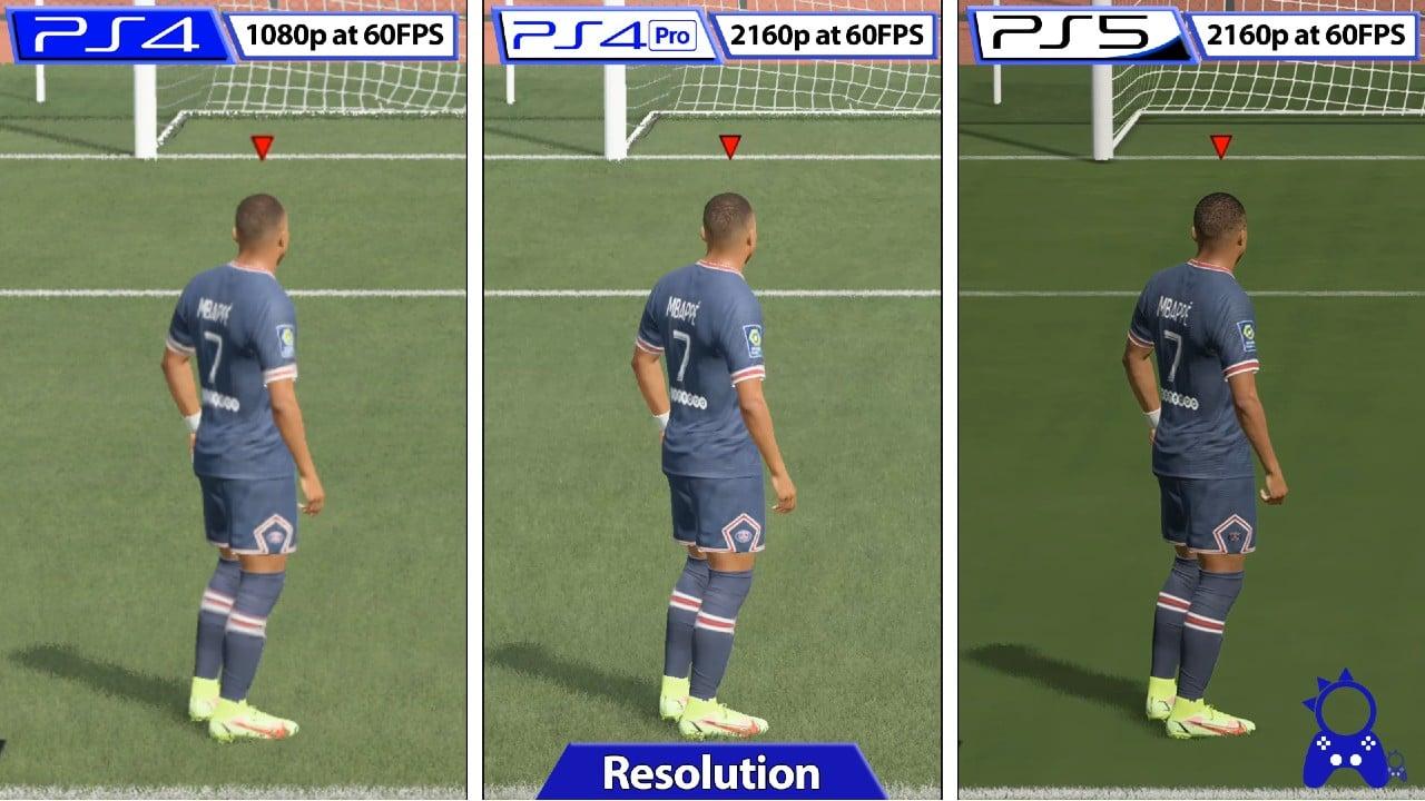 FIFA 22 comparação