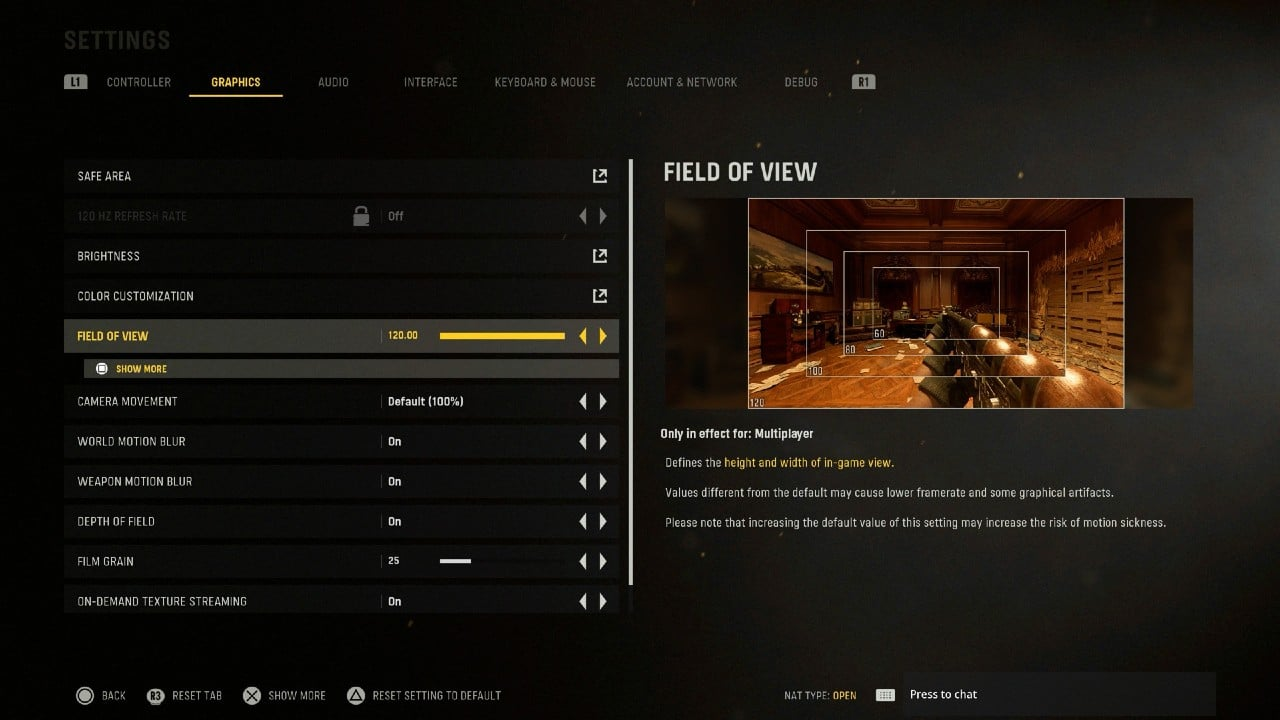 FOV Call of Duty Vanguard