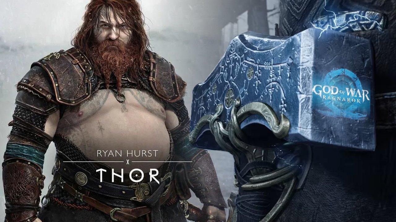 Thor em God of War Ragnarok