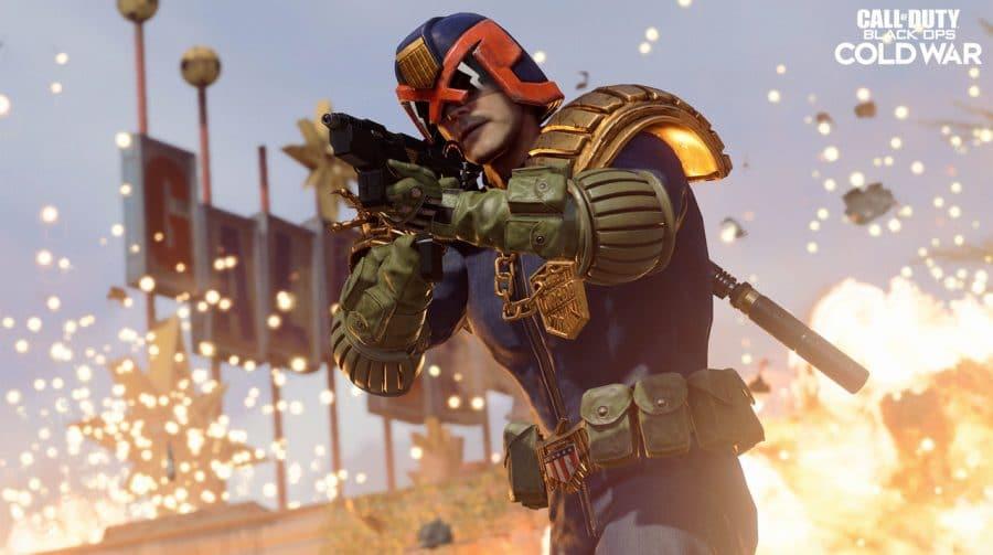 Judge Dredd, clássico personagem de HQs, está disponível em Warzone e Cold War