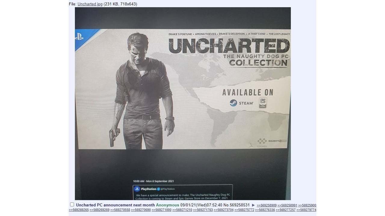 Lançamento de Uncharted no PC