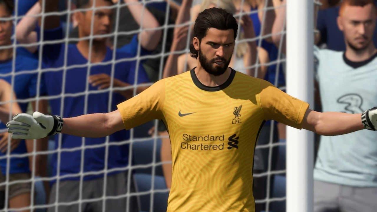 Imagem de capa do goleiro Alisson em FIFA 22