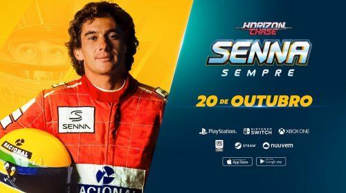 Edição física de Horizon Chase Turbo Senna Sempre entra em pré-venda na Amazon