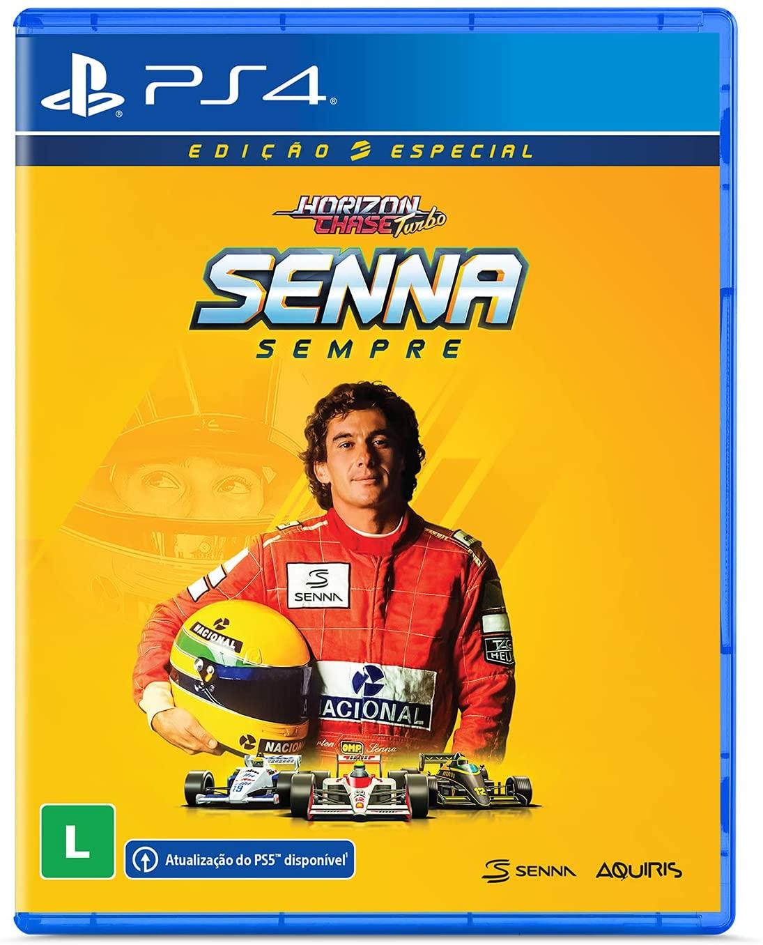 Imagem da capa da edição física de Horizon Chase Turbo Senna Sempre