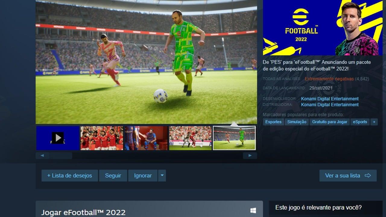 Steam - bugs de efootball 2022
