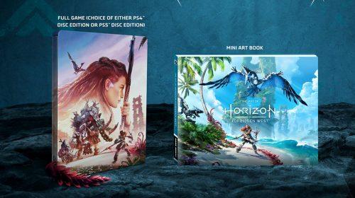 Horizon Forbidden West terá steelbook no Brasil; pré-venda começa