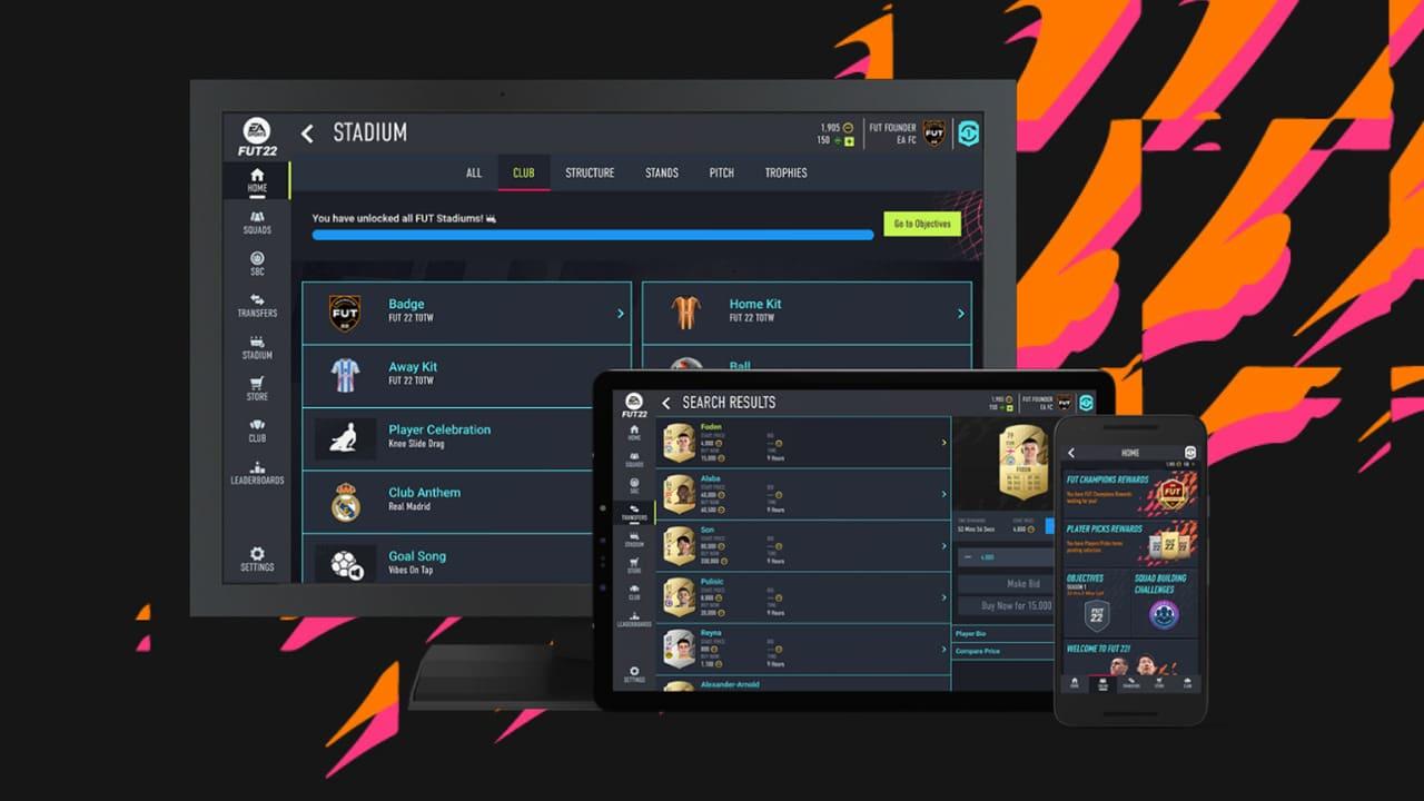 Imagem de capa do Web App de FIFA 22