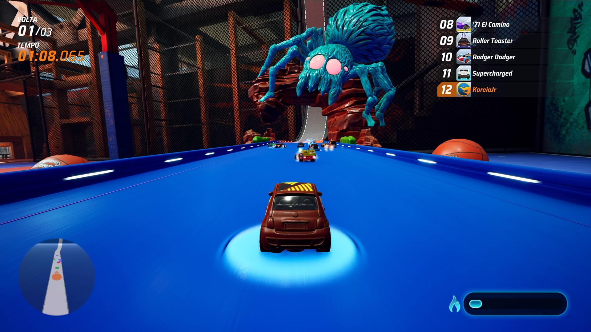 aranha de brinquedo prende os carrinhos - Hot Wheels: Unleashed