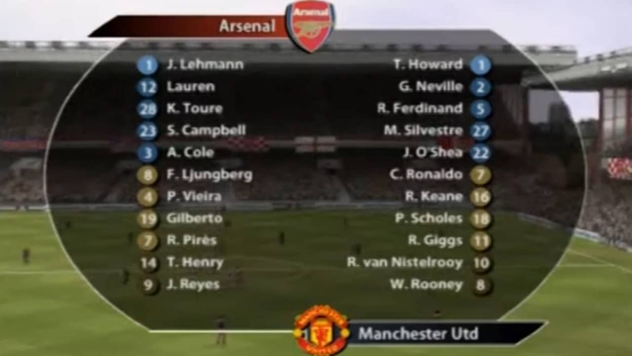 os melhores times do FIFA - Arsenal FIFA 05
