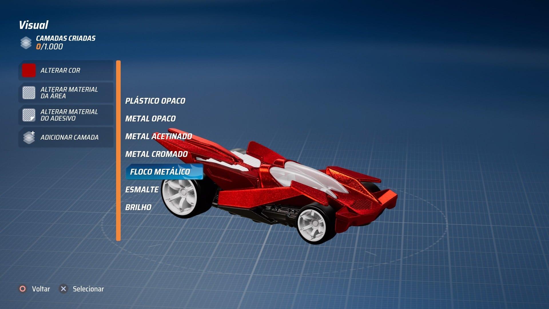 personalização em Hot Wheels: Unleashed