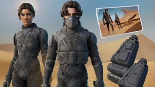 Filme Duna pode ter crossover em Fortnite com skins e muitos itens
