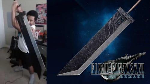 Com a Buster Sword de verdade, fã de Final Fantasy VII Remake controla Cloud no PS5