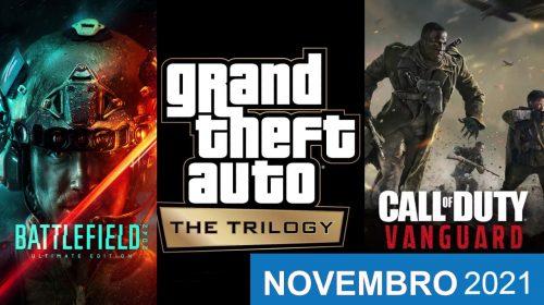 Confira os lançamentos do mês de novembro para PS4 e PS5