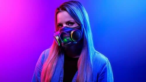 Zephyr, máscara futurista da Razer, chega ao Brasil em janeiro por R$ 999