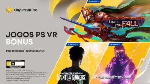 Sony oferece três jogos bônus de PlayStation VR no PS Plus de novembro